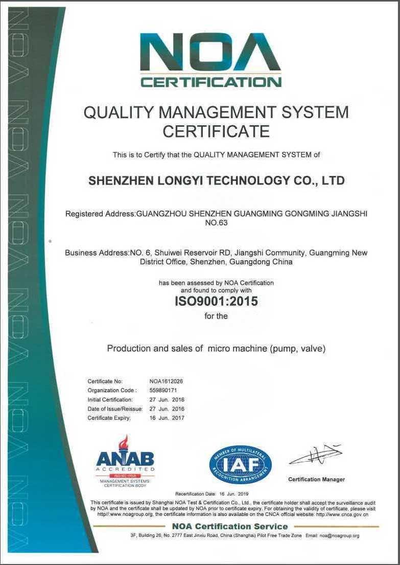 ISO 9001 2015版(英文)